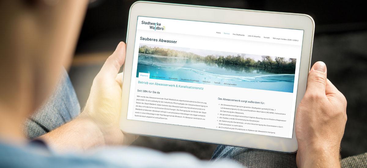 Neues Servicecenter der Stadtwerke online