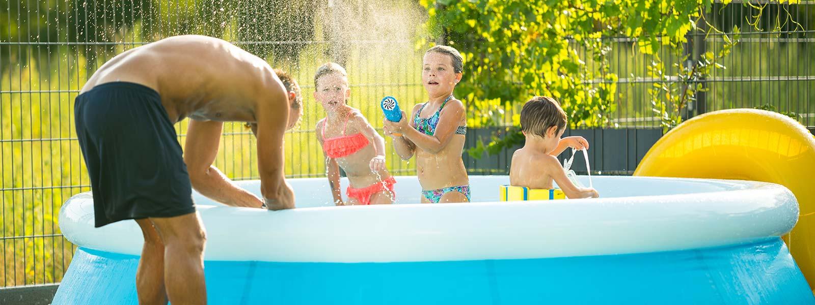 Befüllen und Entleeren von Swimmingpools